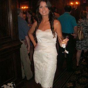 Adrianna Papell Satin Bridal Dress!!!